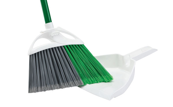 Libman Precision Angle Broom With Dustpan