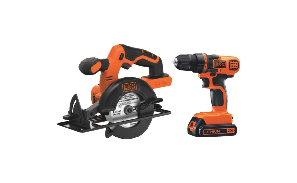 Black & Decker 2-Tool 20V MAX Lithium-Ion Circular Saw & Drill/Driver Cordless Tool Combo Kit