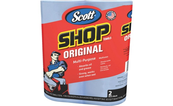 Scott 11 In. W x 10.4 In. L Disposable Original Shop Towel, (2-Roll\/110-Sheets)