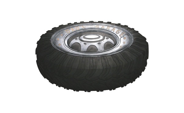 Robert Allen Home & Garden Black 18 In. x 30 In. Rubber Tire Door Mat