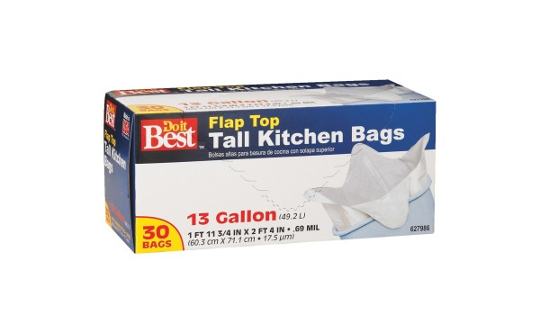 Do it Best 13 Gal. Tall Kitchen White Trash Bag (30-Count)