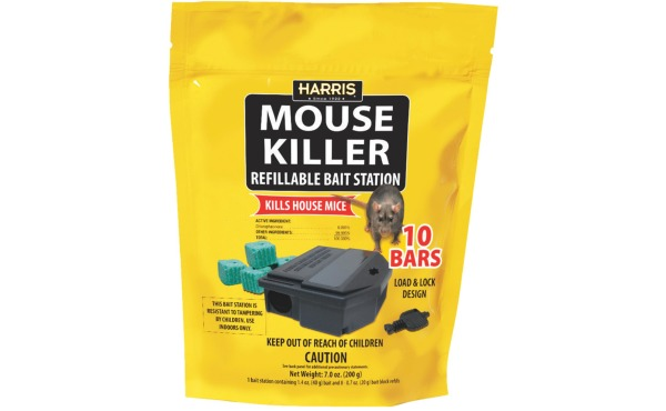 Harris Mouse Killer Refillable Mouse Bait Station (10-Refill)