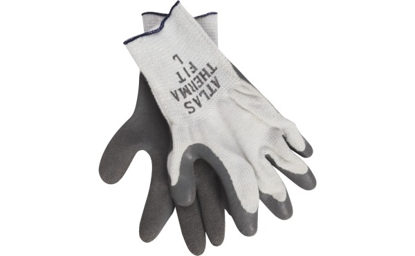 Sm, Med, Lg, Xlg sizes.  Atlas Therma-Fit Men's Large Latex-Dipped Knit Winter Glove