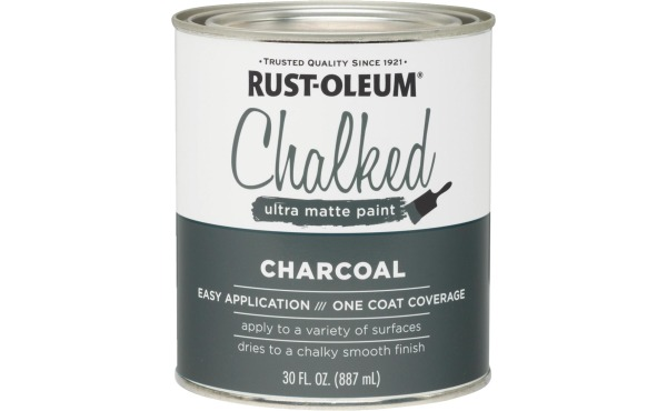 Seven colors to choose from!  Rust-Oleum Chalked Charcoal Ultra Matte 30 Oz. Chalk Paint