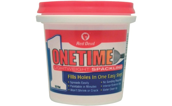 Red Devil Onetime 1\/2 Pt. Lightweight Acrylic Spackling Compound